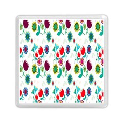 Lindas Flores Colorful Flower Pattern Memory Card Reader (square)