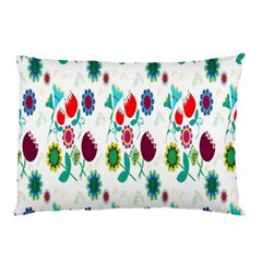 Lindas Flores Colorful Flower Pattern Pillow Case (two Sides)