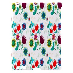 Lindas Flores Colorful Flower Pattern Apple iPad 3/4 Hardshell Case (Compatible with Smart Cover)