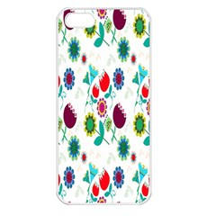 Lindas Flores Colorful Flower Pattern Apple iPhone 5 Seamless Case (White)