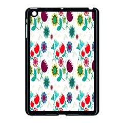 Lindas Flores Colorful Flower Pattern Apple iPad Mini Case (Black)