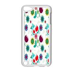 Lindas Flores Colorful Flower Pattern Apple iPod Touch 5 Case (White)