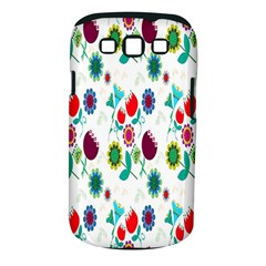 Lindas Flores Colorful Flower Pattern Samsung Galaxy S III Classic Hardshell Case (PC+Silicone)