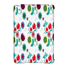 Lindas Flores Colorful Flower Pattern Apple Ipad Mini Hardshell Case (compatible With Smart Cover)
