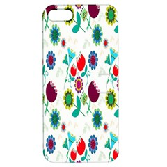 Lindas Flores Colorful Flower Pattern Apple iPhone 5 Hardshell Case with Stand