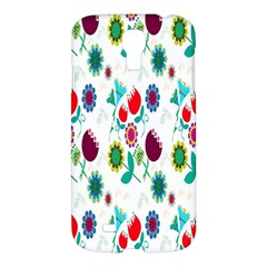 Lindas Flores Colorful Flower Pattern Samsung Galaxy S4 I9500/I9505 Hardshell Case