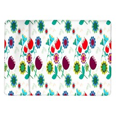 Lindas Flores Colorful Flower Pattern Samsung Galaxy Tab 10.1  P7500 Flip Case