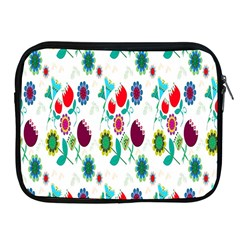 Lindas Flores Colorful Flower Pattern Apple iPad 2/3/4 Zipper Cases