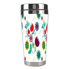 Lindas Flores Colorful Flower Pattern Stainless Steel Travel Tumblers
