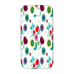 Lindas Flores Colorful Flower Pattern Samsung Galaxy S4 I9500/I9505  Hardshell Back Case