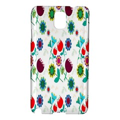 Lindas Flores Colorful Flower Pattern Samsung Galaxy Note 3 N9005 Hardshell Case