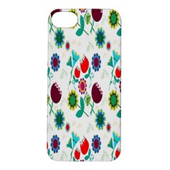 Lindas Flores Colorful Flower Pattern Apple iPhone 5S/ SE Hardshell Case