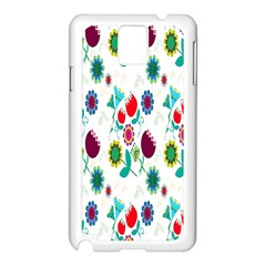 Lindas Flores Colorful Flower Pattern Samsung Galaxy Note 3 N9005 Case (White)