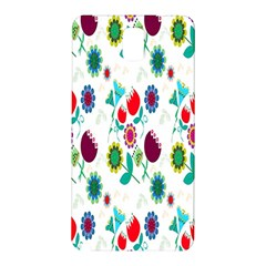 Lindas Flores Colorful Flower Pattern Samsung Galaxy Note 3 N9005 Hardshell Back Case