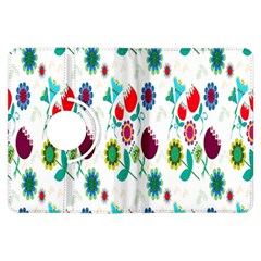 Lindas Flores Colorful Flower Pattern Kindle Fire HDX Flip 360 Case