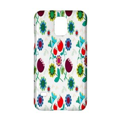 Lindas Flores Colorful Flower Pattern Samsung Galaxy S5 Hardshell Case