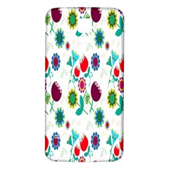 Lindas Flores Colorful Flower Pattern Samsung Galaxy S5 Back Case (White)