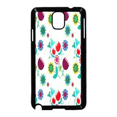 Lindas Flores Colorful Flower Pattern Samsung Galaxy Note 3 Neo Hardshell Case (Black)