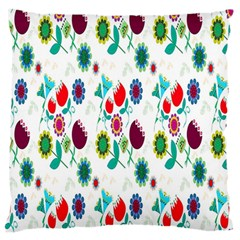 Lindas Flores Colorful Flower Pattern Large Flano Cushion Case (Two Sides)