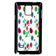 Lindas Flores Colorful Flower Pattern Samsung Galaxy Note 4 Case (Black)