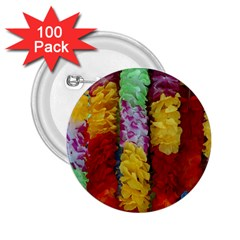 Colorful Hawaiian Lei Flowers 2 25  Buttons (100 Pack)