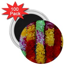 Colorful Hawaiian Lei Flowers 2 25  Magnets (100 Pack)