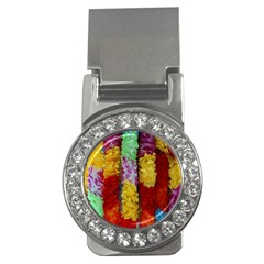 Colorful Hawaiian Lei Flowers Money Clips (cz)