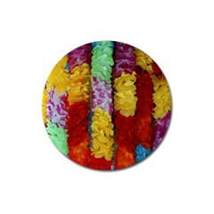 Colorful Hawaiian Lei Flowers Magnet 3  (Round)