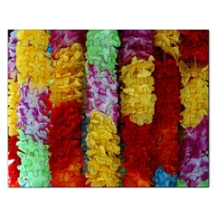 Colorful Hawaiian Lei Flowers Rectangular Jigsaw Puzzl