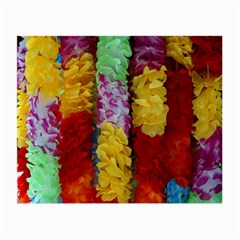 Colorful Hawaiian Lei Flowers Small Glasses Cloth