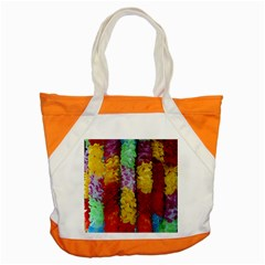 Colorful Hawaiian Lei Flowers Accent Tote Bag