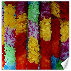 Colorful Hawaiian Lei Flowers Canvas 16  X 16