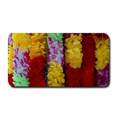 Colorful Hawaiian Lei Flowers Medium Bar Mats
