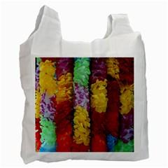 Colorful Hawaiian Lei Flowers Recycle Bag (one Side)