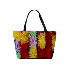 Colorful Hawaiian Lei Flowers Shoulder Handbags