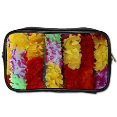 Colorful Hawaiian Lei Flowers Toiletries Bags 2 Side