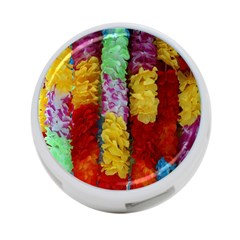 Colorful Hawaiian Lei Flowers 4 Port Usb Hub (two Sides)