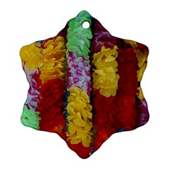 Colorful Hawaiian Lei Flowers Snowflake Ornament (Two Sides)