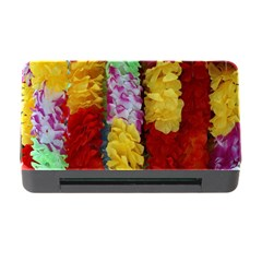 Colorful Hawaiian Lei Flowers Memory Card Reader with CF