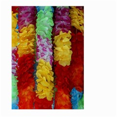Colorful Hawaiian Lei Flowers Large Garden Flag (two Sides)