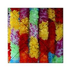 Colorful Hawaiian Lei Flowers Acrylic Tangram Puzzle (6  X 6 )