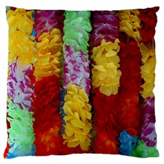 Colorful Hawaiian Lei Flowers Large Cushion Case (two Sides)