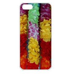 Colorful Hawaiian Lei Flowers Apple Iphone 5 Seamless Case (white)