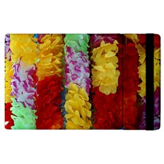 Colorful Hawaiian Lei Flowers Apple iPad 3/4 Flip Case
