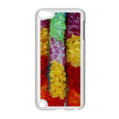 Colorful Hawaiian Lei Flowers Apple iPod Touch 5 Case (White)
