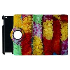 Colorful Hawaiian Lei Flowers Apple iPad 3/4 Flip 360 Case