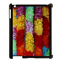 Colorful Hawaiian Lei Flowers Apple iPad 3/4 Case (Black)