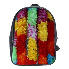 Colorful Hawaiian Lei Flowers School Bags (XL)