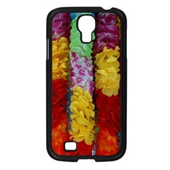 Colorful Hawaiian Lei Flowers Samsung Galaxy S4 I9500/ I9505 Case (Black)