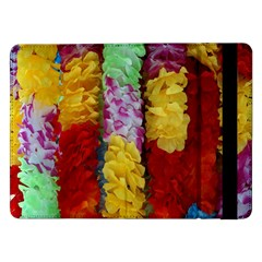 Colorful Hawaiian Lei Flowers Samsung Galaxy Tab Pro 12 2  Flip Case